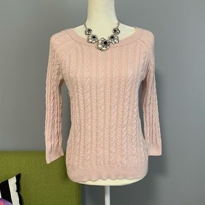 4/$25 American Eagle Light Pink Knit Sweater C2